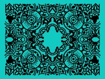 Vector vintage flower motif arabic retro pattern Stock Photos
