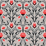 Vector vintage flowers pattern. retro seamless texture Stock Images