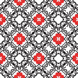 Vector vintage flowers pattern. retro seamless texture Royalty Free Stock Photo