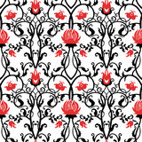 vector vintage flowers pattern. retro seamless texture Royalty Free Stock Photography