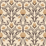 Vector vintage flowers pattern. retro seamless texture Royalty Free Stock Images