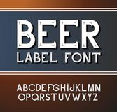 Vector vintage font. Beer label style. Vector vintage label font. Beer label style Royalty Free Illustration