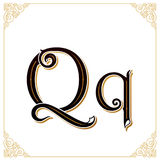 Vector Vintage Font. Letter and monogram in the calligraphic style. Qualitative manual work Stock Photos