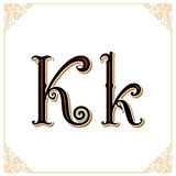 Vector Vintage Font. Letter and monogram in the calligraphic style. Qualitative manual work Royalty Free Stock Images