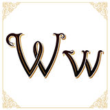 Vector Vintage Font. Letter and monogram in the calligraphic style. Qualitative manual work Royalty Free Stock Image