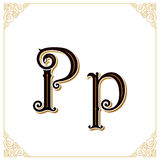 Vector Vintage Font. Letter and monogram in the calligraphic style. Qualitative manual work Stock Images
