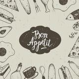 Vector vintage food illustration. Hand drawn. engraved illustration for restaurant. Cafe Stock Photos