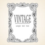 Vector Vintage frame Stock Photo