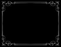 Vector vintage frame on a black background Stock Images