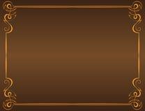 Vector vintage frame on a brown background. Vector vintage frame with patterned angles on a brown background royalty free illustration