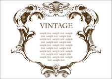 Vector vintage frame cover Royalty Free Stock Images