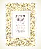 Vector vintage frame in Eastern style. Stock Image