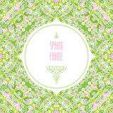Vector vintage frame in Eastern style. Royalty Free Stock Photos