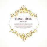 Vector vintage frame in Eastern style. Royalty Free Stock Photography