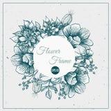 Vector Vintage frame floral background design Royalty Free Stock Images