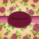 Vector vintage frame with floral ornament Stock Images