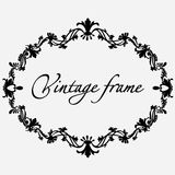 Vector vintage frame. Flower ornament. Royalty Free Stock Photography