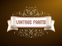 Vector Vintage frame with hand-drawing elements. Title design, and page decoration. For food packaging, bottles of. Vector Vintage frame with hand-drawing Royalty Free Illustration