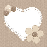 Vector vintage frame with love heart Royalty Free Stock Images