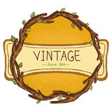 Vector vintage frame Stock Image