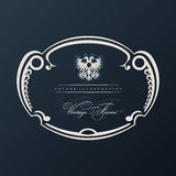 Vector vintage frame with ornament Stock Photo