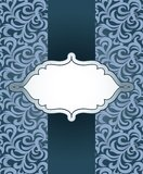 Vector vintage frame with pattern Royalty Free Stock Photos