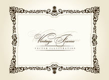 Vector vintage frame retro decor ornament royalty free illustration