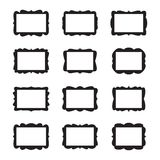 Vector Vintage Frame Set. Isolated on white Stock Photos