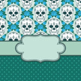 Vector vintage frame with skulls Stock Photography