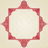 Vector vintage frame in Victorian style. Ornate element for design and place for text. Ornamental lace pattern for wedding invitations and greeting cards Royalty Free Stock Images