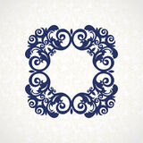 Vector vintage frame in Victorian style. Ornate element for flat design, place for text. Ornamental floral pattern for invitations, greeting cards. Traditional Royalty Free Stock Photography