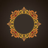 Vector vintage frame in Victorian style. Ornate element for flat design, place for text. Ornamental floral pattern for invitations, greeting cards. Traditional Stock Photography