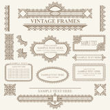 Vector Vintage frames and design elements Royalty Free Stock Photos