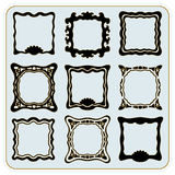 Vector vintage frames. Exquisite set of vector vintage frames, painted by hand royalty free illustration