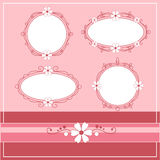 Vector vintage frames Royalty Free Stock Photos
