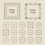 Vector vintage frames Stock Image