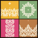 Vector vintage frames in Victorian style. Stock Photography