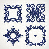 Vector vintage frames in Victorian style. Stock Photo