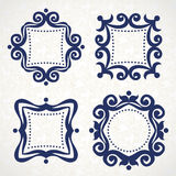 Vector vintage frames in Victorian style. Royalty Free Stock Photo