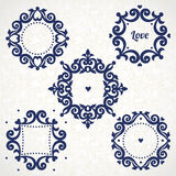 Vector vintage frames in Victorian style. Royalty Free Stock Photography