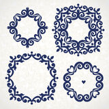 Vector vintage frames in Victorian style. Stock Images