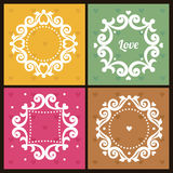 Vector vintage frames in Victorian style. Stock Photos