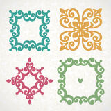 Vector vintage frames in Victorian style. Royalty Free Stock Image