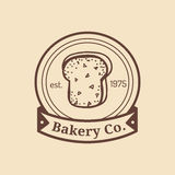 Vector vintage fresh bread logo. Retro hipster pastry sign. Biscuit shop icon. Bakery, desert products emblem. Royalty Free Stock Photo