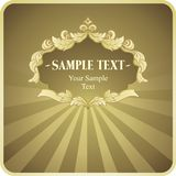 Vector vintage gold frame Royalty Free Stock Photos