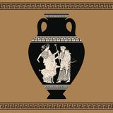 Vector Greek vase. Royalty Free Stock Photo