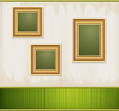 Vector vintage green abstract background Royalty Free Stock Images