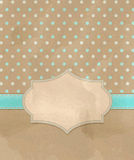 Vector vintage greeting card Royalty Free Stock Images