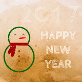 Vector vintage greeting card. Template banner Christmas. New year  background Stock Photography