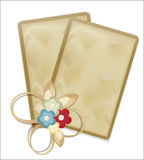 Vector vintage greeting cards with flowers Stock Photos